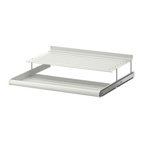 Wit Schoenenrek Ikea.Komplement Uittrekbaar Schoenenrek Wit Ikea Pax