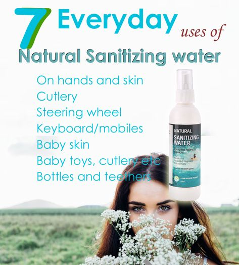 Saw Natural Sanitizing Water Can Be Safely Used On Hands Skin
