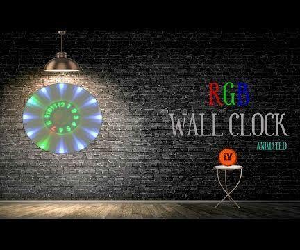 Animated Rgb Wall Clock Wall Clock Project Wall Clock Clock