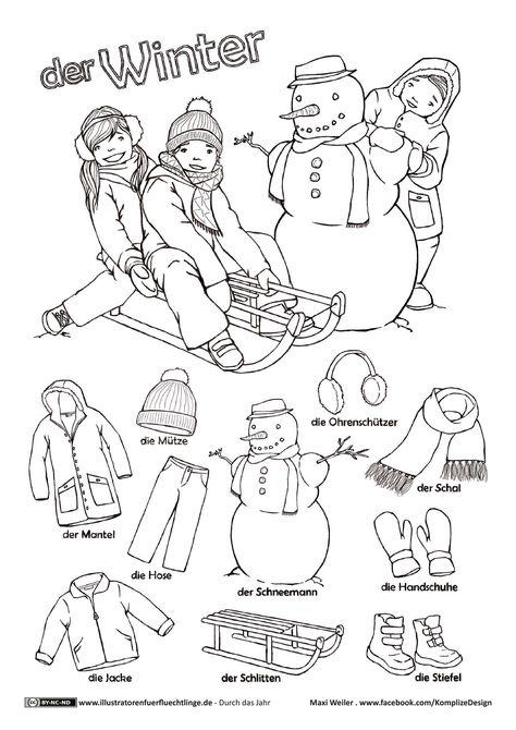 winter  vorschulprojekte arbeitsblätter kindergarten