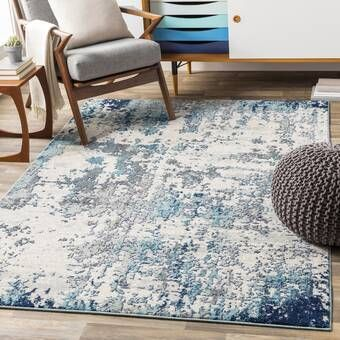 Indira Abstract Gray Light Blue Navy Blue Area Rug Area Rugs Cool Rugs Light Grey Area Rug