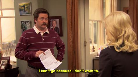 Funny quote from Parks and Recreation by Ron Swanson Parks And Rec Quotes, Parks And Recs, Parks And Rec Ron, Parks And Recreation, Ron Swanson Quotes, Leslie Knope, Just For Laughs, Laugh Out Loud, Favorite Tv Shows