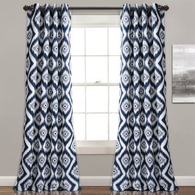 Latitude Run Castleton Ikat Room Darkening Thermal Grommet Curtain