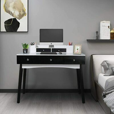 39 37 Inch Home Office Writing Desk Station With 5 Drawers 2 Organizer Ebay In 2020 Desk And Chair Set Solid Wood Bed Frame Computer Desks For Home
