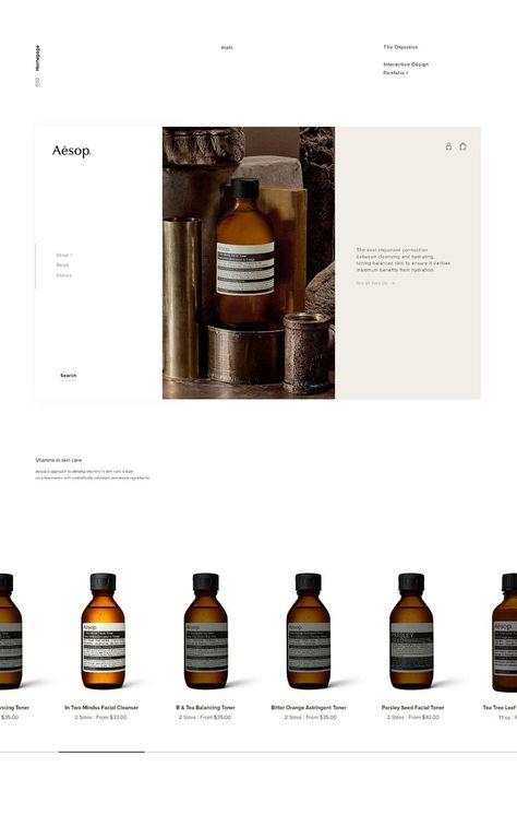 AESOP Skincare Web Design