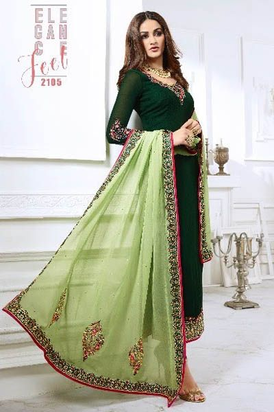 28db8002e3 Nysa Vol 12 Georgette With Embroidery Suit 2105 | DESIGNER DRESSES ...