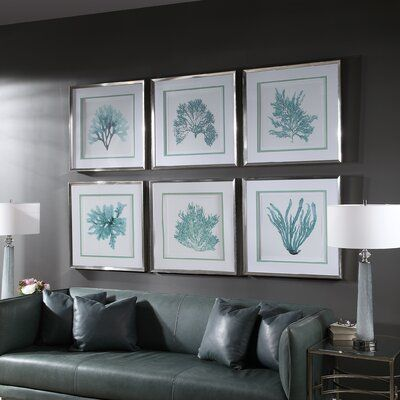 Bay Isle Home Coral Reef 6 Piece Framed Graphic Art Set In 2021 Decor Coastal Bedrooms Beach House Decor