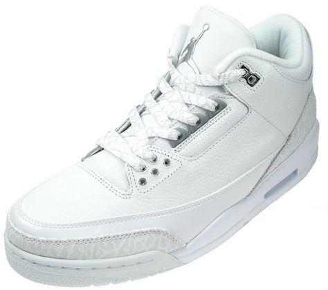 info for 1610f 56088 Air Jordan 3 (III) Retro - Pure Money   (White   Metallic Silver)