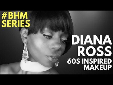 Black History Month Series Diana Ross 60s Makeup Tutorial