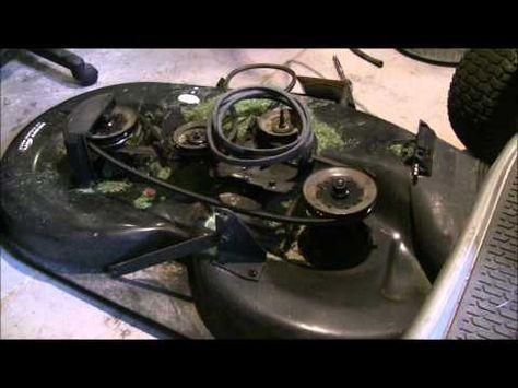 How To Replace Craftsman Lt2000 Mower Deck Belt Youtube Craftsman Riding Lawn Mower Riding Mower Craftsman
