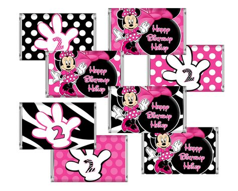 Free Minnie Mouse Printables Mini Candy Bar Wrers Pink Zebra Party