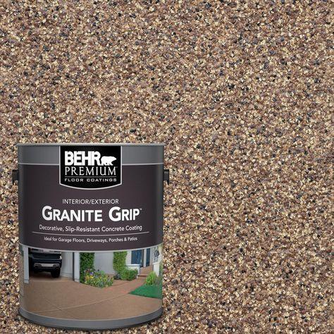 Copper Marble Decorative Flat Interior/Exterior Concrete Floor - The Home Depot BEHR Premium 1 gal. Concrete Floor Coatings, Concrete Bricks, Painting Concrete Patios, Stained Concrete Porch, How To Paint Concrete, Concrete Paint Colors, Concrete Front Porch, Cement Floors, Design Interiors