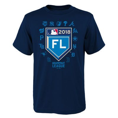 brand new 3798a 5a855 Youth Navy 2018 Spring Training Grapefruit League Map T ...