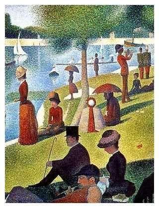 Ile De La Grande Jatte : grande, jatte, GEORGES, SEURAT(1859-1891), Detail:, Sunday, Afternoon, Grande, Jatte',, Canvas), Impressionism,, Impressionist, Seurat