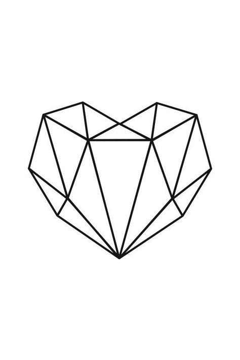 Geometrisches Herz-Plakat-Druck-minimalistisches H... - #Geometrisches #HerzPlakatDruckminimalistisches #minimalist