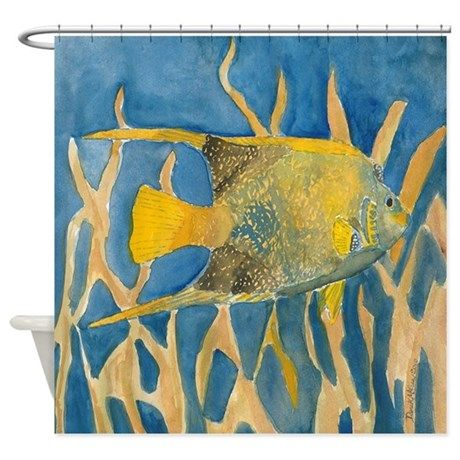 Tropical Fish Shower Curtain By Watercolor Paintings Fish Art