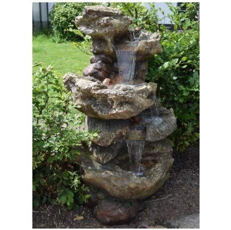 Ubbink Fontaine De Jardin Cascade D Eau Norfolk A Eclairage Led