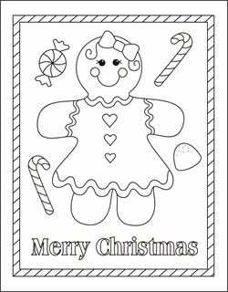 Free Christmas coloring pages - gingerbread girl coloring sheets