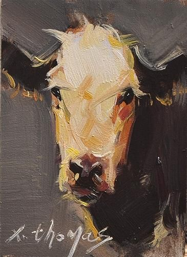 Daily Paintworks Cow Original Fine Art For Sale C Thomas Xie Cow Painting Art Art Painting