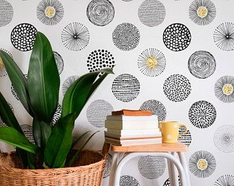 Peel And Stick Wallpaper Etsy Scandinavian Wallpaper Removable Wallpaper Peel And Stick Wallpaper