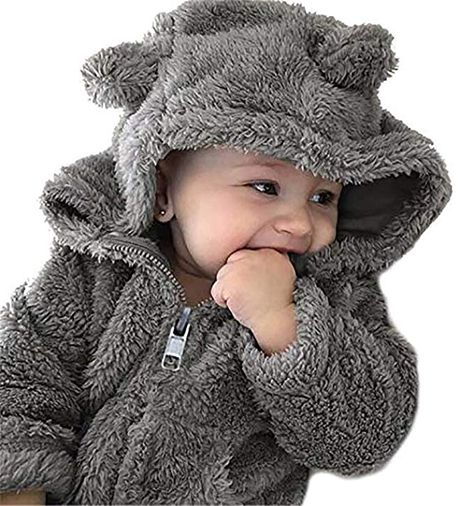 Toddler Baby Boys Girls Fur Hoodie Winter Warm Coat Jacket Cute Thick Clothes Attention plz: If your kid is chubby, we recomend choosing a larger size, than So Cute Baby, Baby Kind, Cute Kids, Cute Babies, Cute Toddlers, Baby Outfits Newborn, Baby Boy Outfits, Kids Winter Jackets, Winter Kids
