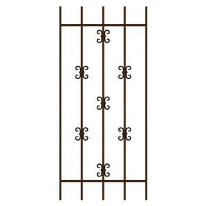 Swg0340cop2454 Lace Window Tubular Steel Security Door