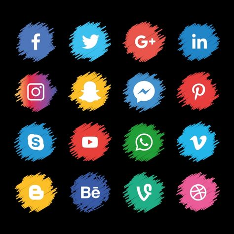 Social Media Icons Sets, Social Media Clipart, Social Icons, Media Icons PNG and Vector with Transparent Background for Free Download