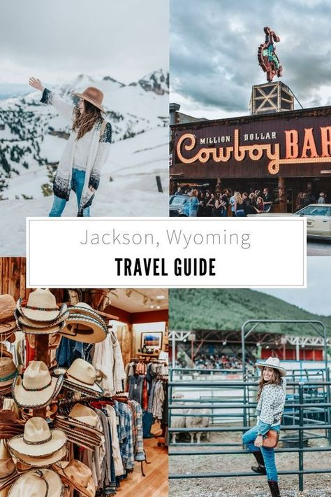 The Ultimate Jackson Hole Travel Guide. Sharing the best of what to see + do and where to stay + eat in Jackson, Wyoming. Wyoming Vacation, Yellowstone Vacation, Places To Travel, Places To Go, Travel Things, Travel Destinations, Travel Pics, Travel Ideas, Jackson Hole Wyoming
