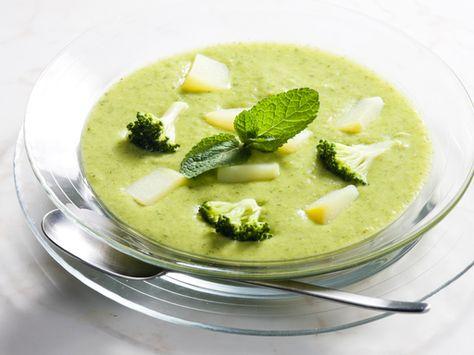 poivre, crême fraîche, brocoli, courgette, chèvre, eau, ail, bouillon