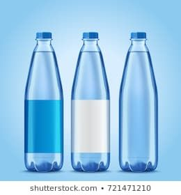 Three Bottles Mockup Plastic Bottles With Blank Labels For Design