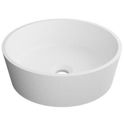 Kraus Natura Circular Vessel Bathroom Sink Sink Vessel Sink Solid Surface