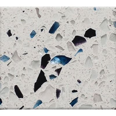 Curava Arctic Recycled Glass Kitchen Countertop Sample Lowes Com In 2020 Glass Countertops Recycled Glass Countertops Recycled Glass