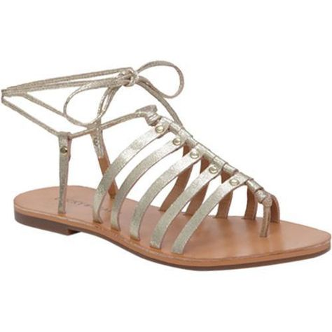 bbba8776459a Women s Lucky Brand Colette Gladiator Sandal Gold Metallic Leather ...