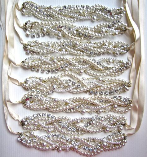 Pearl and Rhinestone Bridesmaid Necklace & by AllThingsTinsel, $59.00