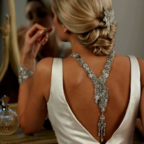 Different Styles of backdrop necklaces now available at BethCarter Exquisite Bridal!