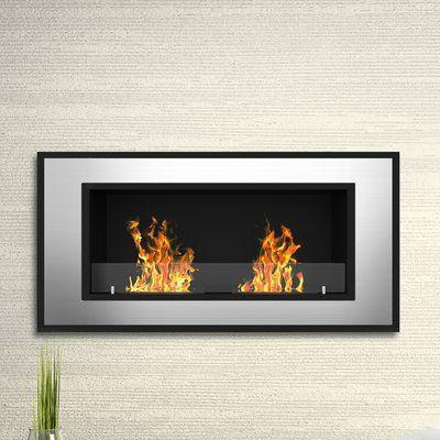 Ebern Designs Acosta Wall Mounted Bio Ethanol Fireplace Bioethanol Fireplace Ethanol Fireplace Wall Mount Fireplace