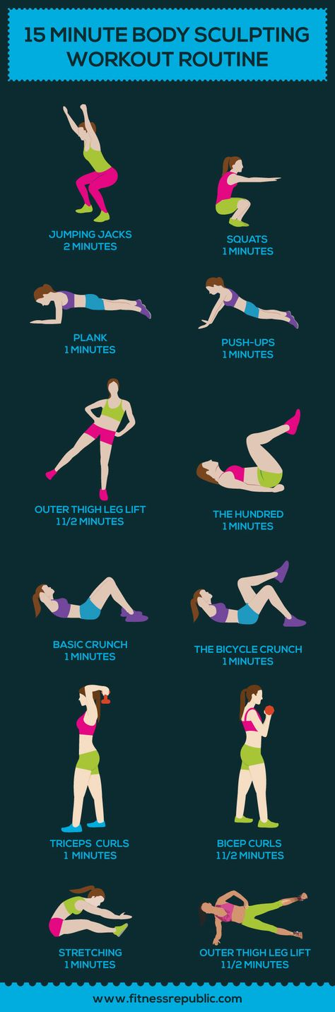 Here's A 15-Minute Body-Sculpting Routine You Can Do Anywhere