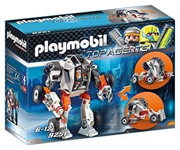 "with Racer Firing Weapons Toy Set Playmobil 9252/"" Top Agent P"
