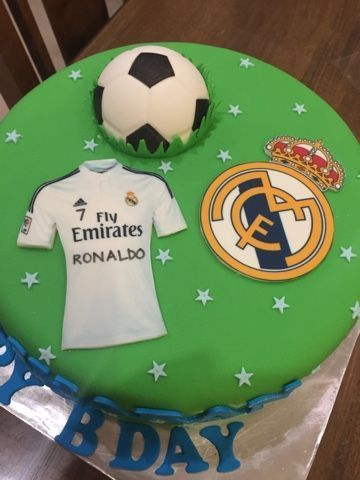 Superb Image Result For Ronaldo And Real Real Madrid Cake Soccer Funny Birthday Cards Online Elaedamsfinfo