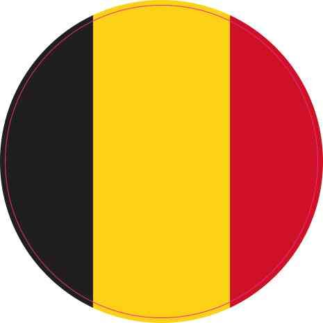 Belgium country shield flag sticker vinyl decal