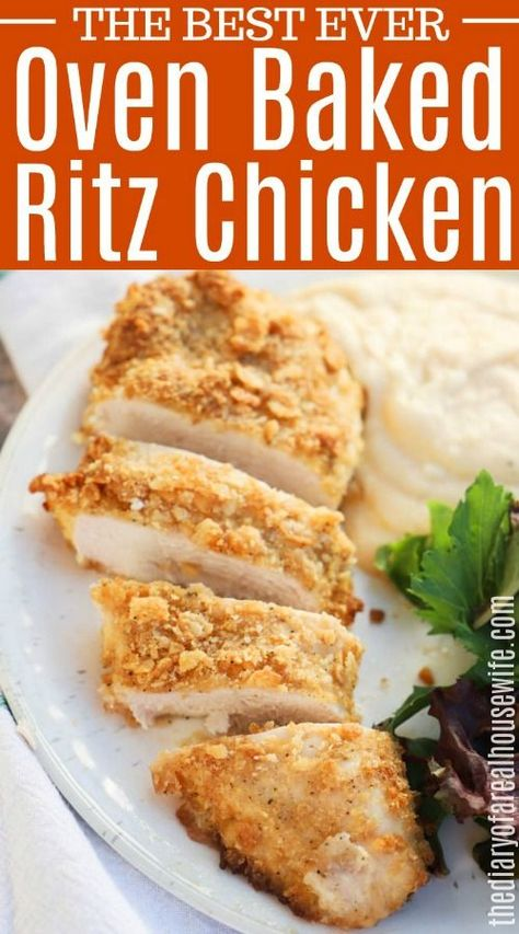 Sep 2019 - This chicken is AMAZING! It's so simple to make and the family loves this dinner recipe. Ritz Chicken, Ritz Cracker Chicken, Lemon Chicken, Buffalo Chicken, Kid Friendly Chicken Recipes, Kids Chicken Recipes, Chicken Ideas, Ritz Cracker Recipes, Baked Chicken Breast