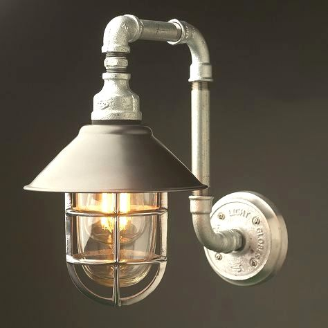Outdoor Plumbing Pipe Wall Shade Lamp Is A Custom Design For