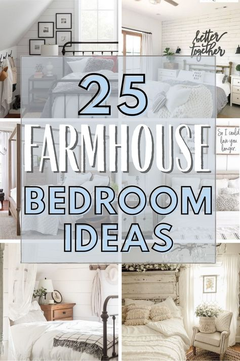 Simple bedroom Farmhouse Decor Ideas for the Bedroom in 2021.