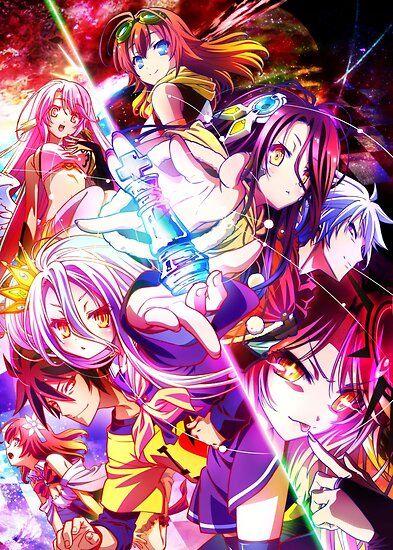 No Game No Life - Shiro / Sora / Jibril Poster