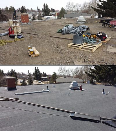 If You Still Have A Tar And Gravel Roof You May Want To Consider Upgrading To A More Modern Roofing Material That O Commercial Roofing Roofing Roofing Systems
