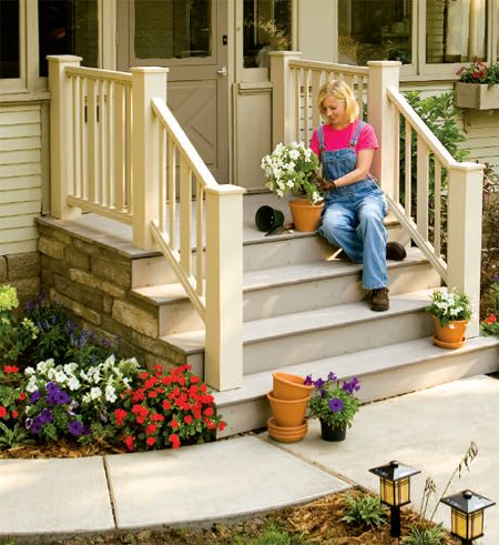 Home Carpentry, Home Remodeling Projects   How To Build An Entry Deck And  Steps | Porch Ideas | Pinterest | Front Porch Steps, Porch Steps And  Carpentry