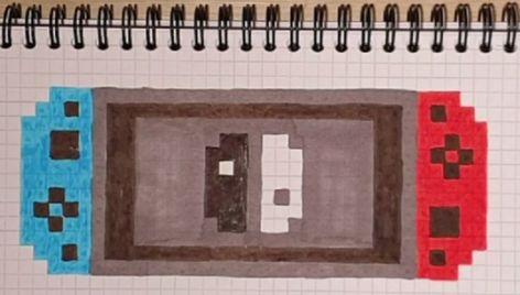 Tuto Dessin Pixel Art Comment Dessiner La Nintendo Switch