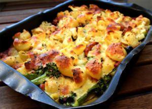 Pastagratang Med Falukorv Och Broccoli Korvrecept Middag Recept