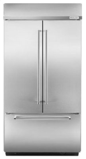24 2 Cu Ft 42 Width Built In Stainless French Door Refrigerator