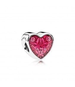 pandora charm cuore con anello